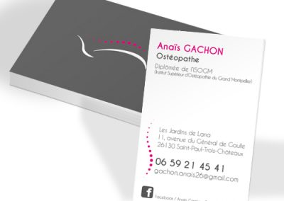 carte de visite-pelliculage-soft touch-création graphique-impression-imprimerie-burinter-pierrelatte