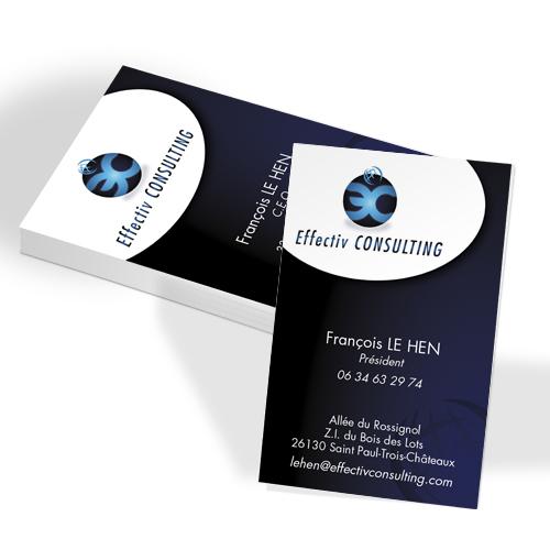 Carte De Visite Creation Graphique Pelliculage Soft Touch Impression Imprimerie