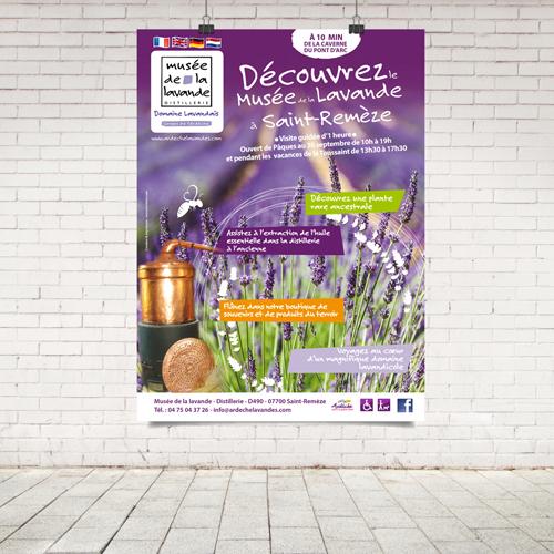 Impression affiche musée de la lavande - imprimerie-burinter-pierrelatte